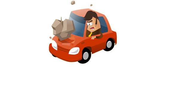 Towing Broken Car