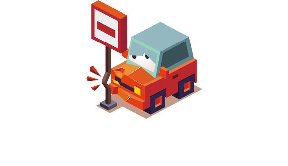 Towing Damaged Car